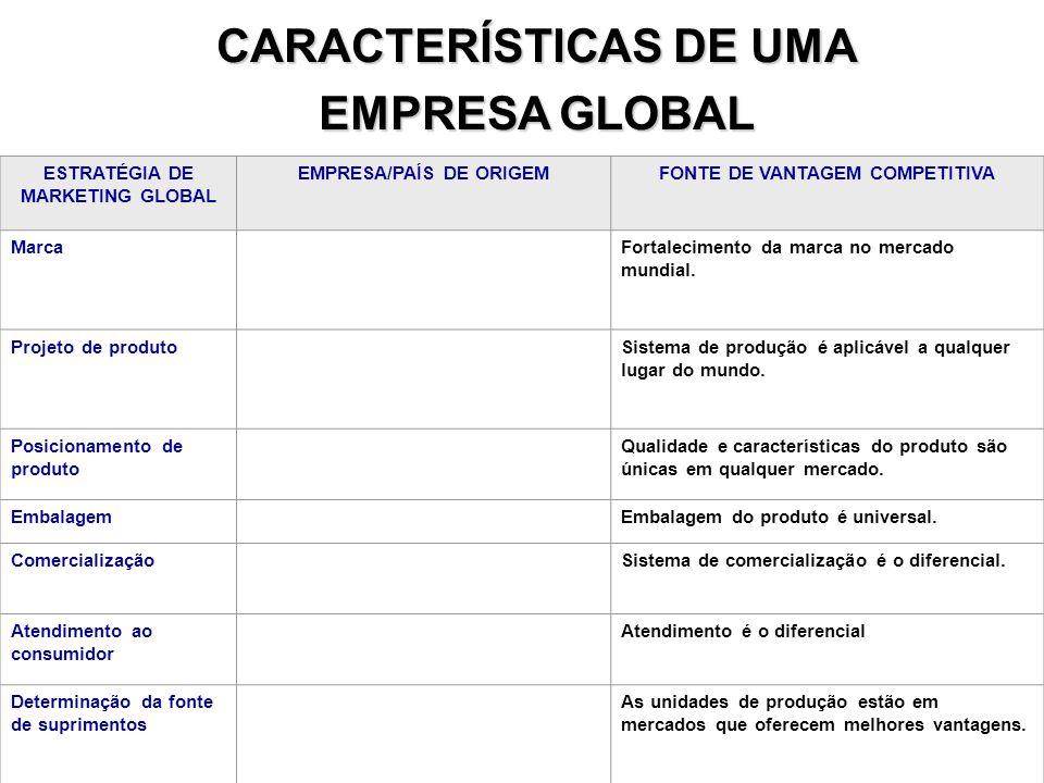 CARACTERÍSTICAS DE UMA EMPRESA GLOBAL