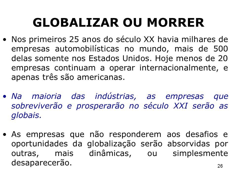 GLOBALIZAR OU MORRER