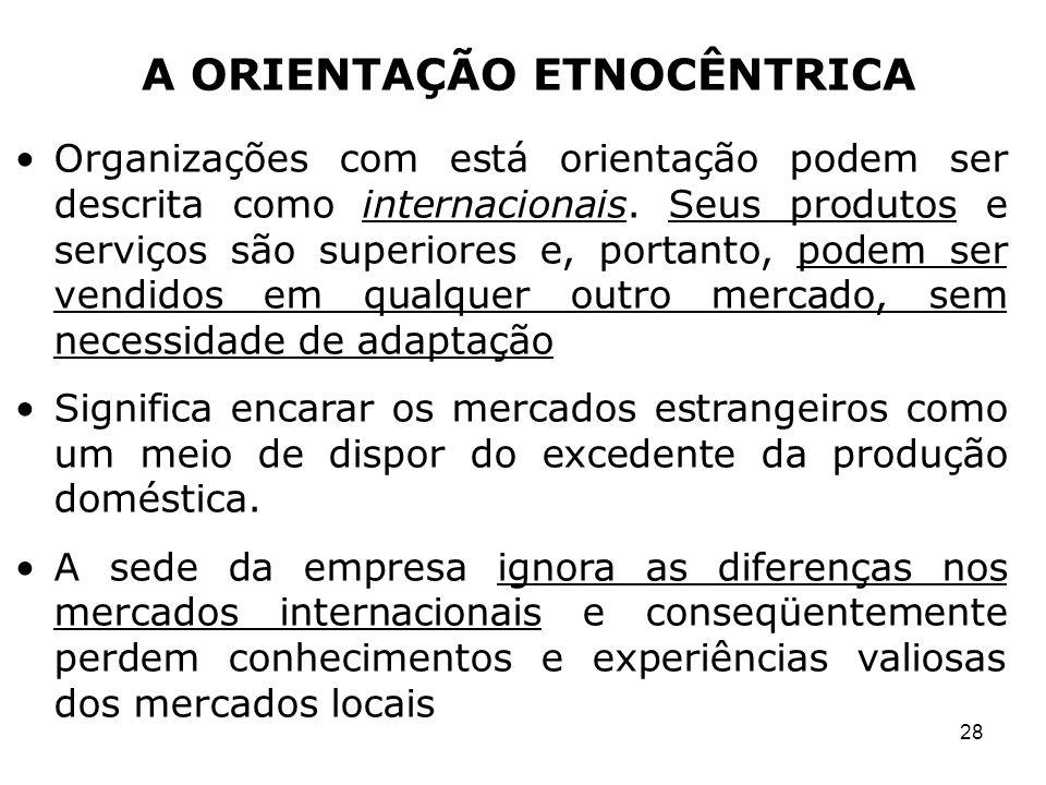 A ORIENTAÇÃO ETNOCÊNTRICA