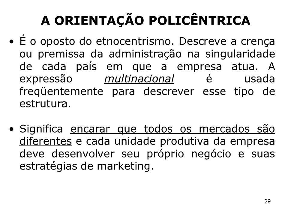 A ORIENTAÇÃO POLICÊNTRICA