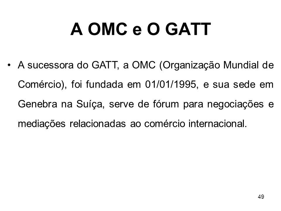 A OMC e O GATT