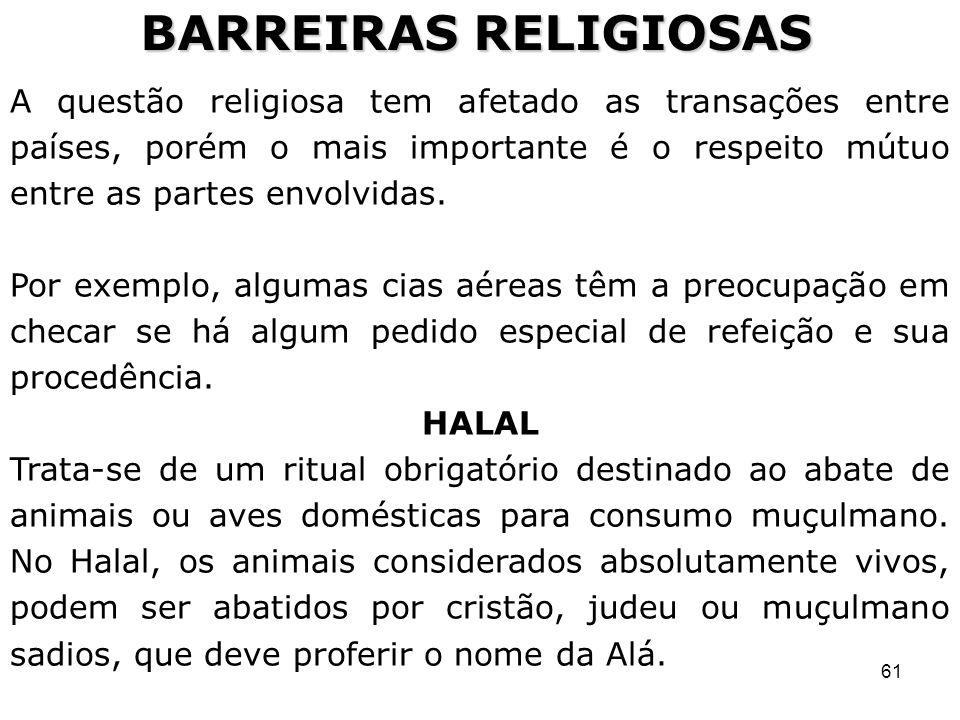 BARREIRAS RELIGIOSAS
