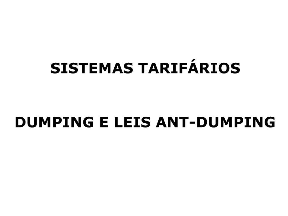 DUMPING E LEIS ANT-DUMPING