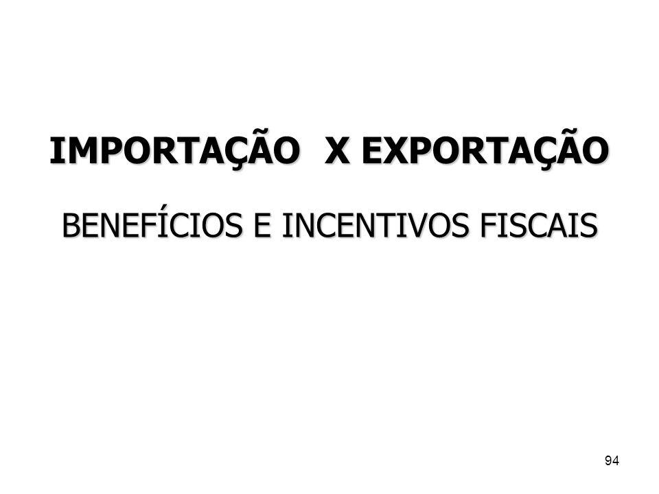 IMPORTAÇÃO X EXPORTAÇÃO