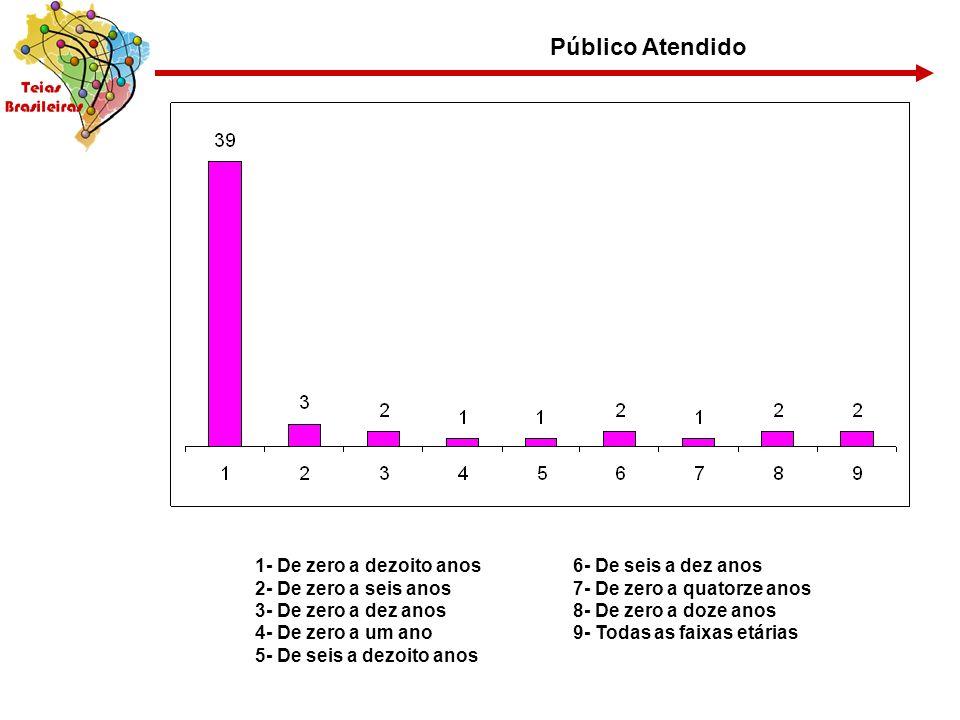 Público Atendido 1- De zero a dezoito anos 2- De zero a seis anos