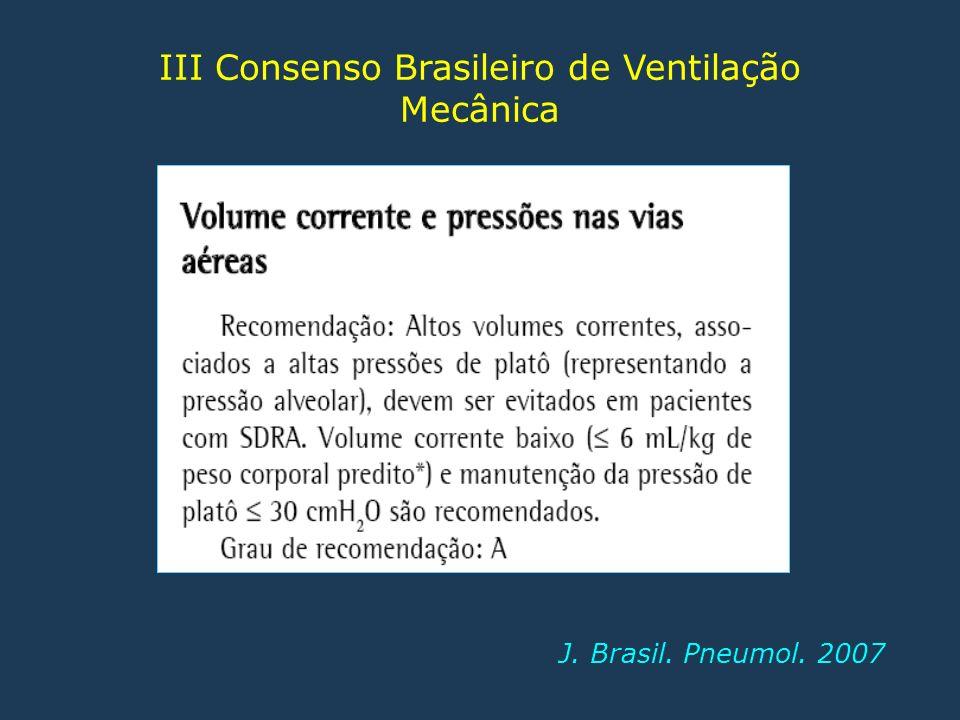III Consenso Brasileiro de Ventilação Mecânica