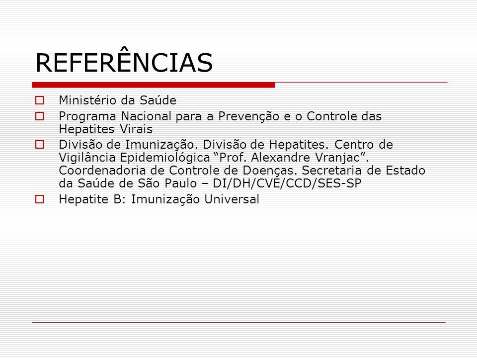 REFERÊNCIAS Ministério da Saúde
