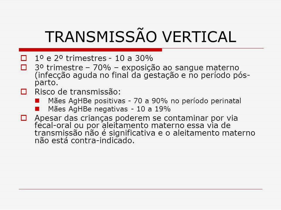 TRANSMISSÃO VERTICAL 1º e 2º trimestres - 10 a 30%