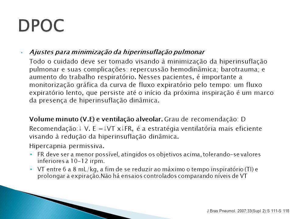 DPOC Ajustes para minimização da hiperinsuflação pulmonar
