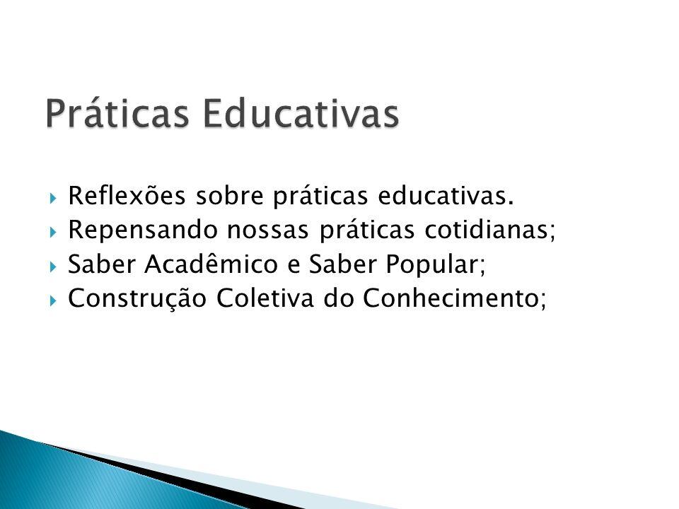 Práticas Educativas Reflexões sobre práticas educativas.