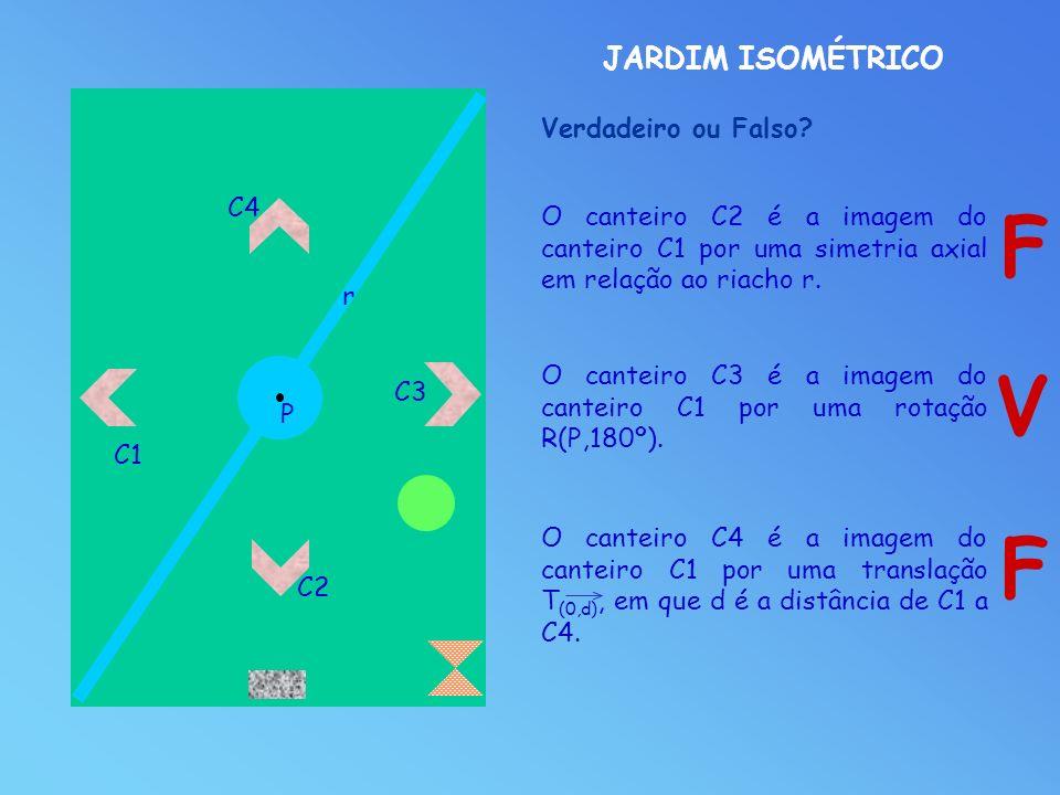 F V F JARDIM ISOMÉTRICO Verdadeiro ou Falso C4