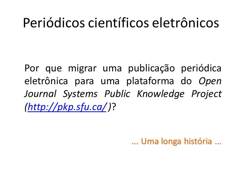 Periódicos científicos eletrônicos