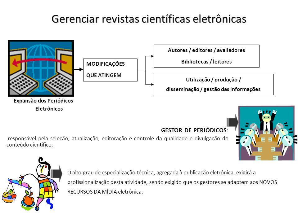 Gerenciar revistas científicas eletrônicas