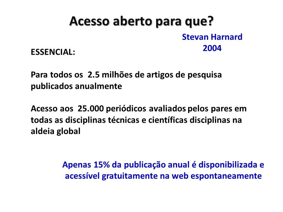 Acesso aberto para que Stevan Harnard 2004 ESSENCIAL: