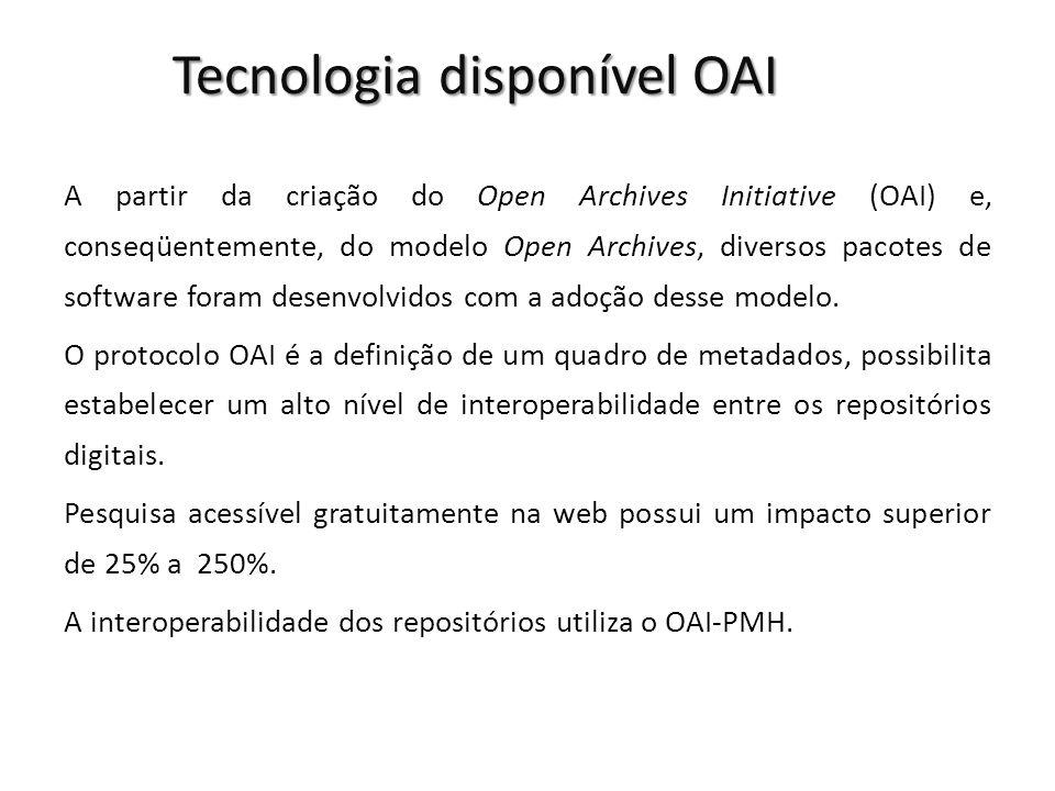 Tecnologia disponível OAI