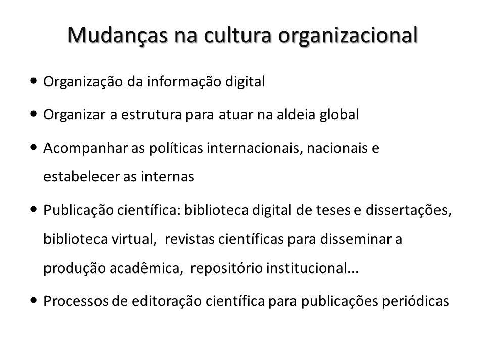 Mudanças na cultura organizacional