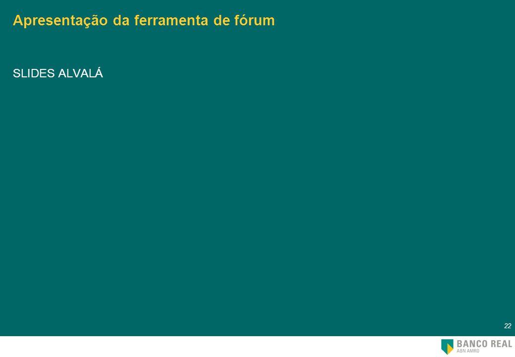 Apresentação da ferramenta de fórum