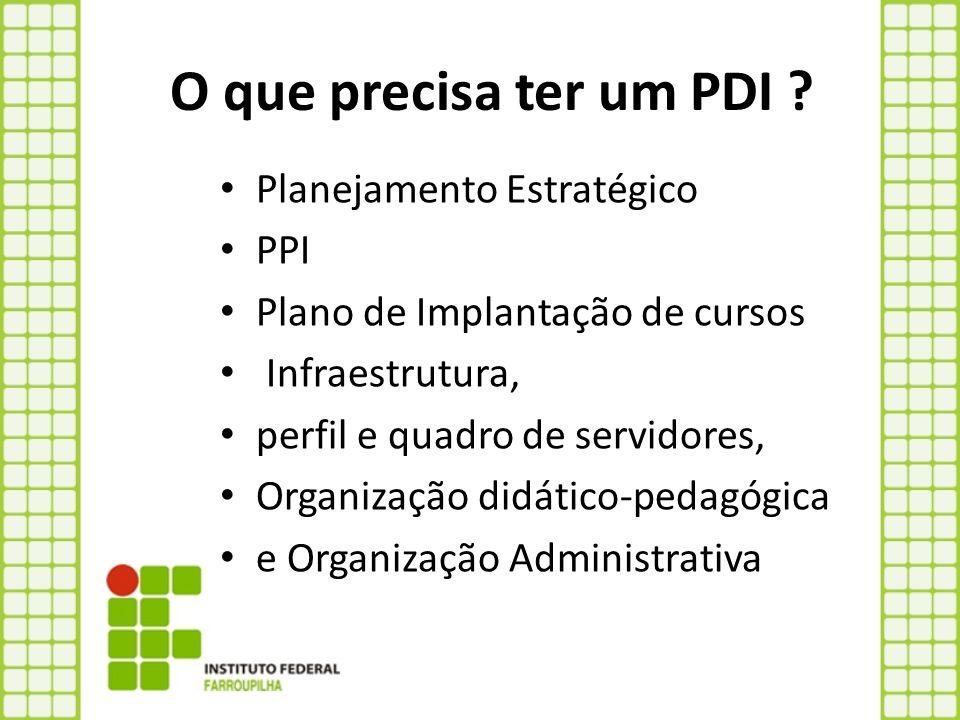 O que precisa ter um PDI Planejamento Estratégico PPI