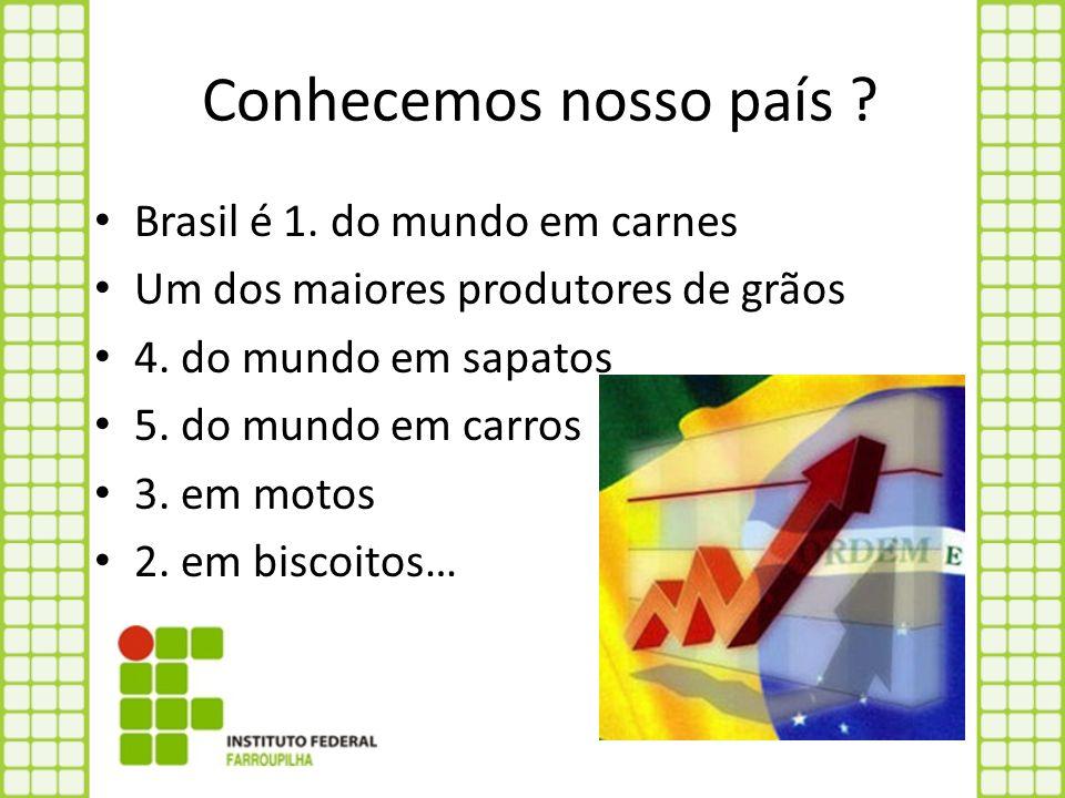 Conhecemos nosso país Brasil é 1. do mundo em carnes