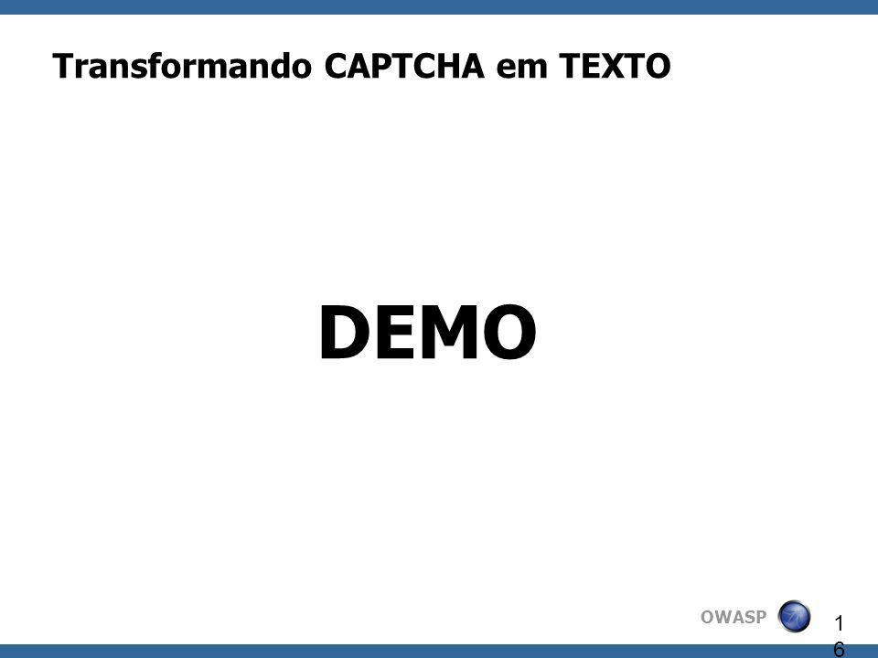 Transformando CAPTCHA em TEXTO