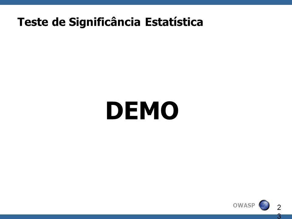 Teste de Significância Estatística