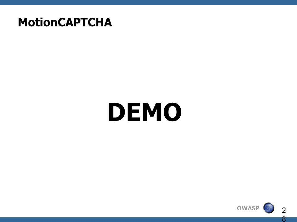 MotionCAPTCHA DEMO