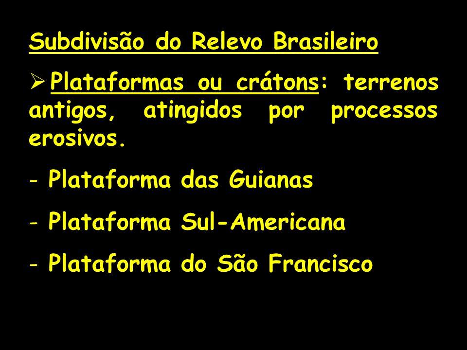 Subdivisão do Relevo Brasileiro