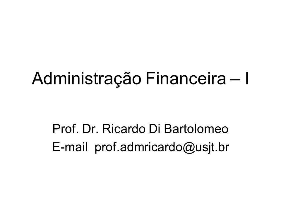 Administração Financeira – I