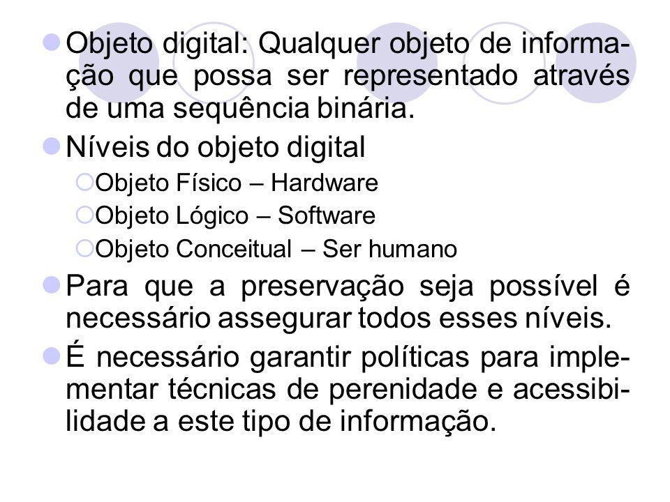 Níveis do objeto digital