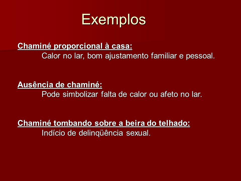 Exemplos Chaminé proporcional à casa: