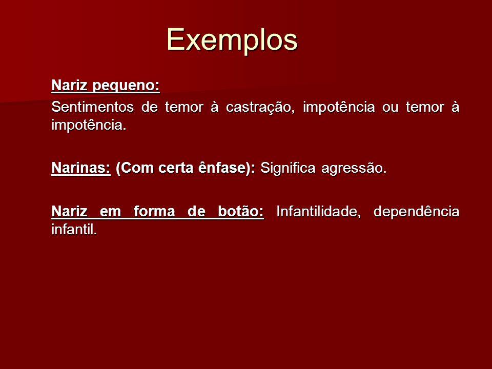Exemplos Nariz pequeno: