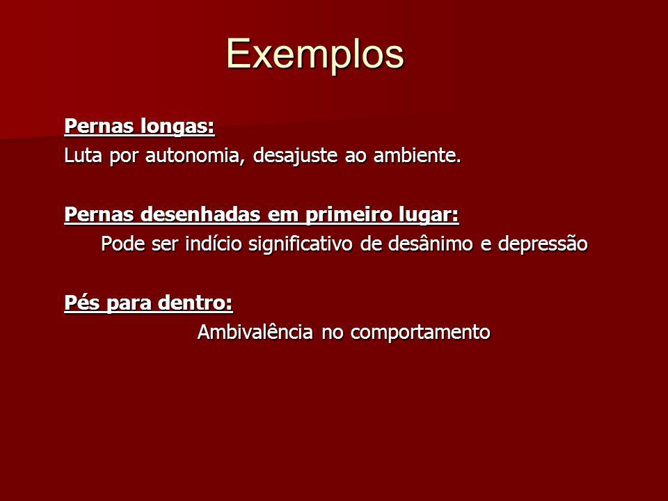 Exemplos Pernas longas: Luta por autonomia, desajuste ao ambiente.