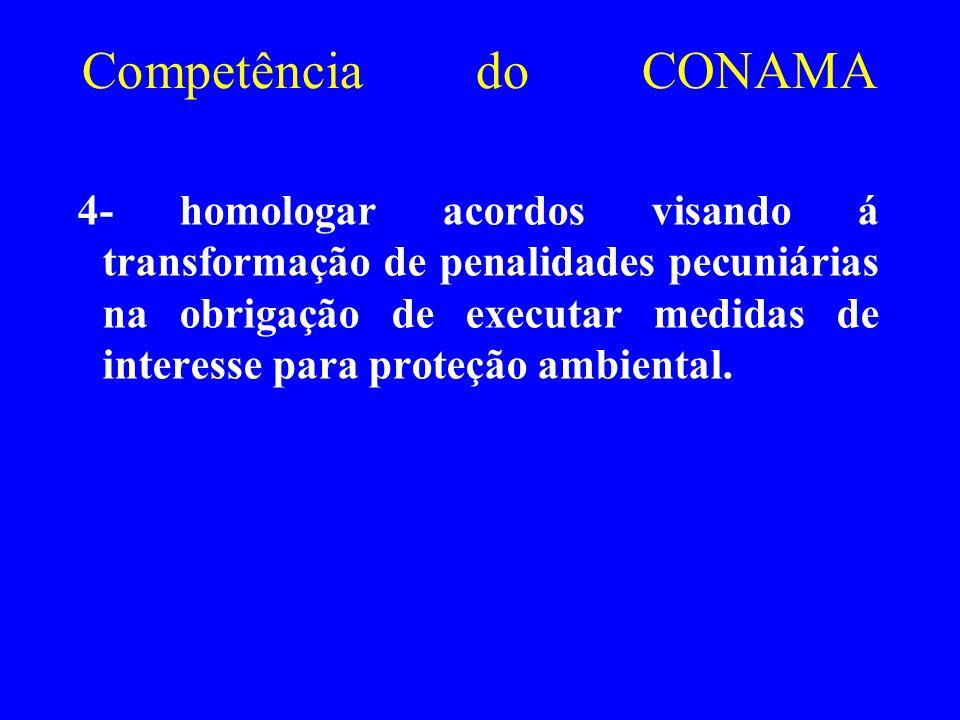 Competência do CONAMA