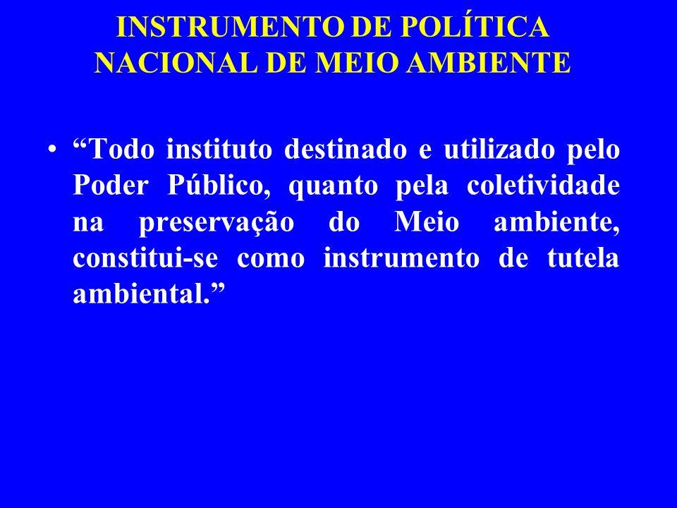INSTRUMENTO DE POLÍTICA NACIONAL DE MEIO AMBIENTE
