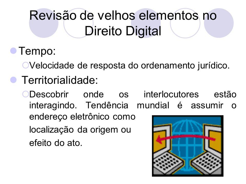 Revisão de velhos elementos no Direito Digital