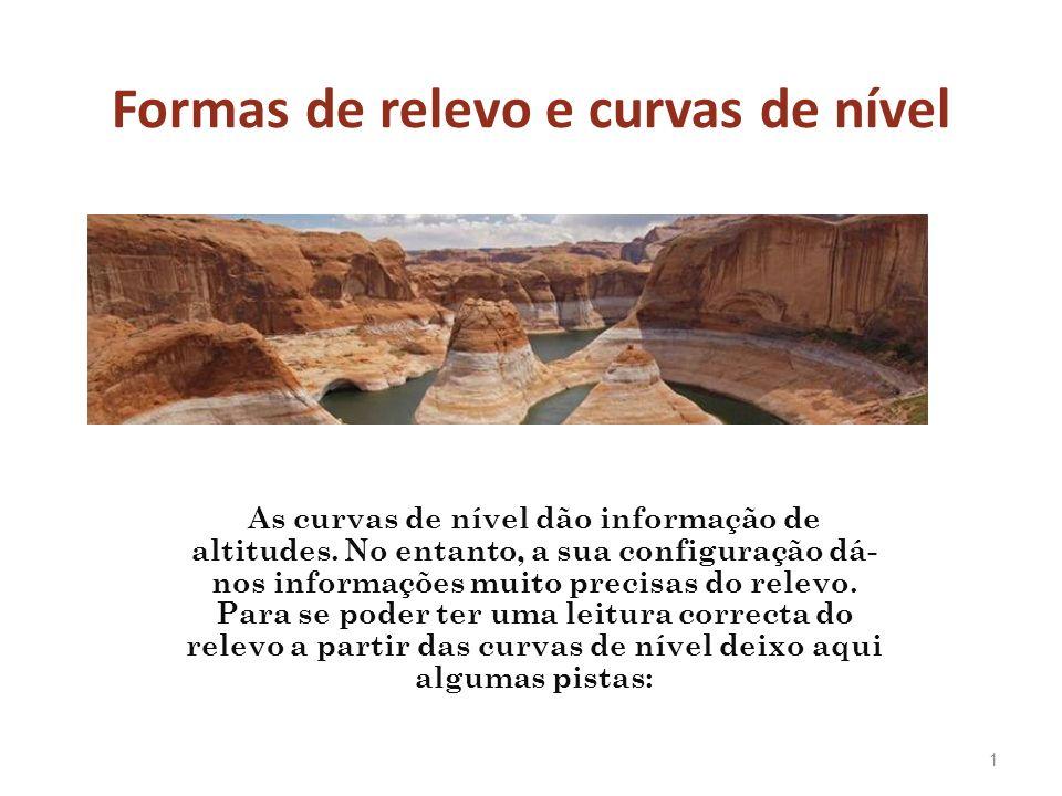 Formas de relevo e curvas de nível