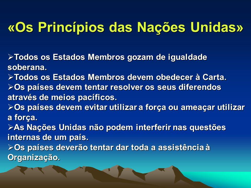 «Os Princípios das Nações Unidas»