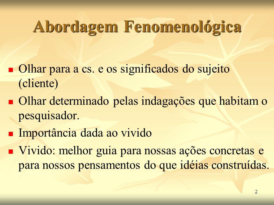 Abordagem Fenomenológica