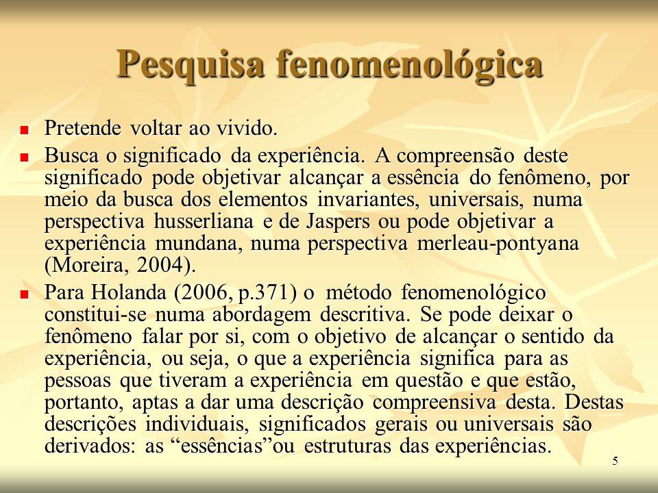 Pesquisa fenomenológica