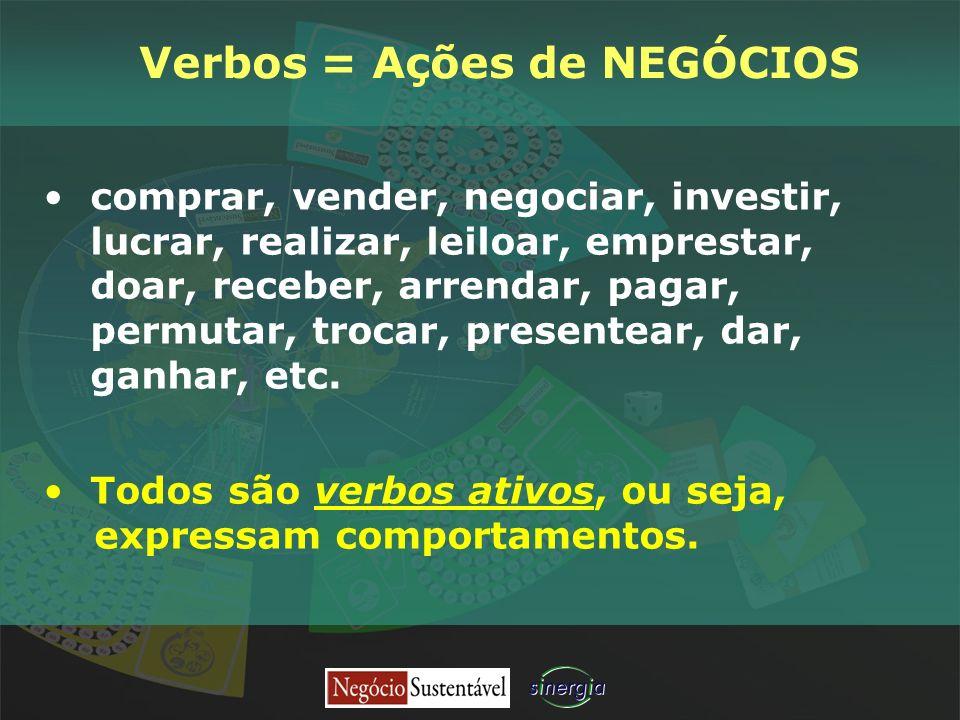 Verbos = Ações de NEGÓCIOS