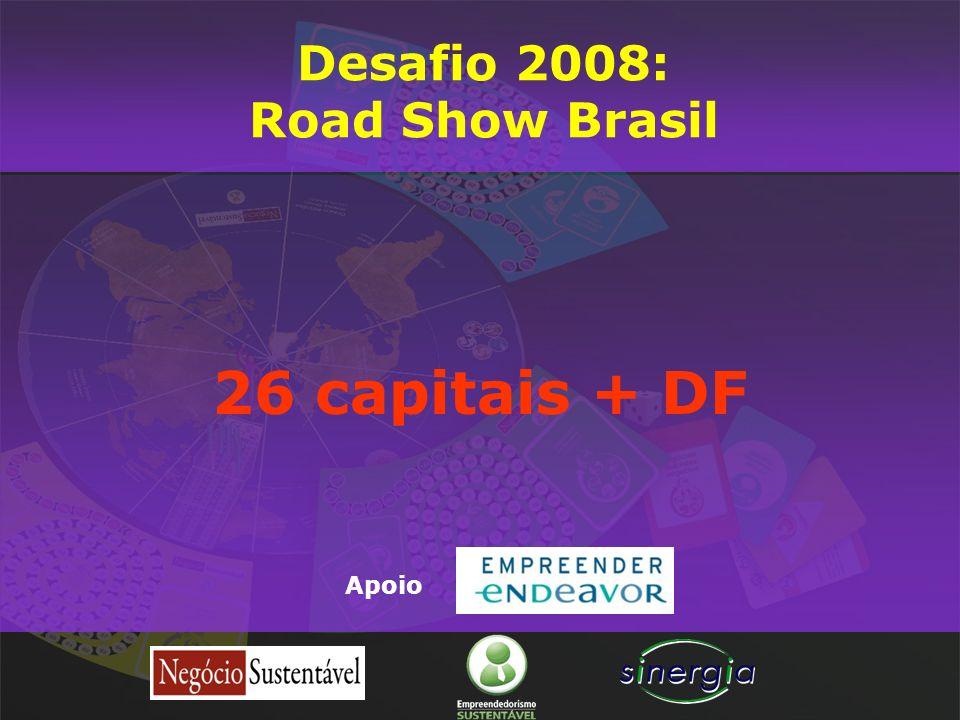 Desafio 2008: Road Show Brasil 26 capitais + DF Apoio
