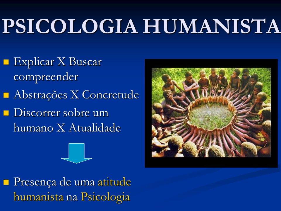 PSICOLOGIA HUMANISTA Explicar X Buscar compreender