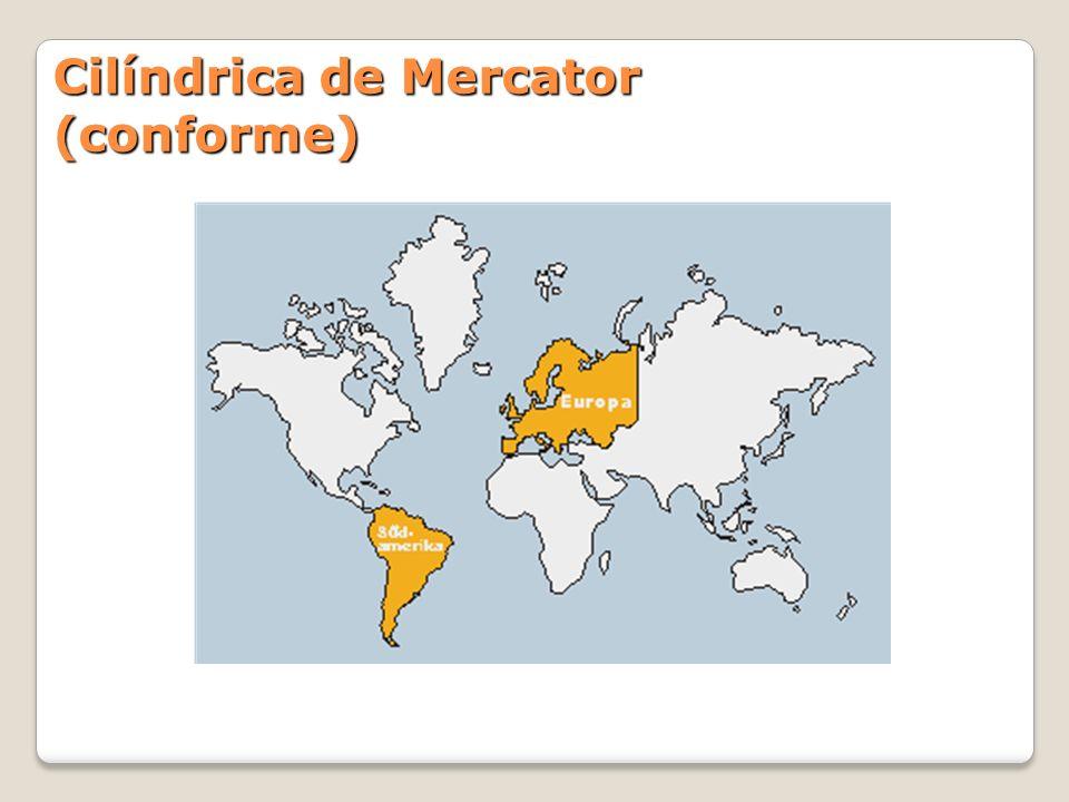 Cilíndrica de Mercator (conforme)