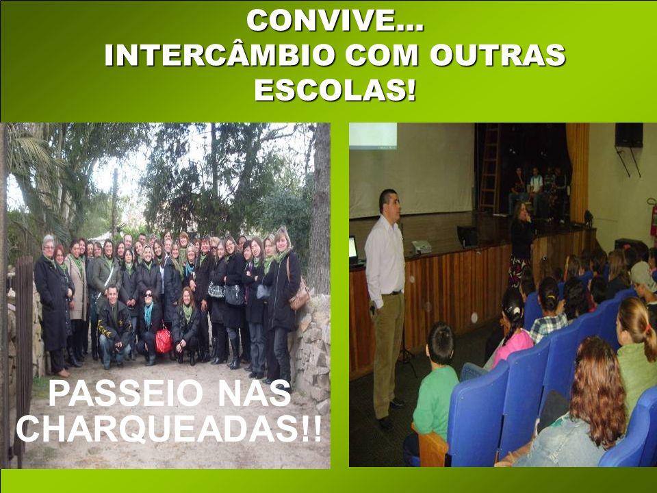 CONVIVE... INTERCÂMBIO COM OUTRAS ESCOLAS! PASSEIO NAS CHARQUEADAS!!