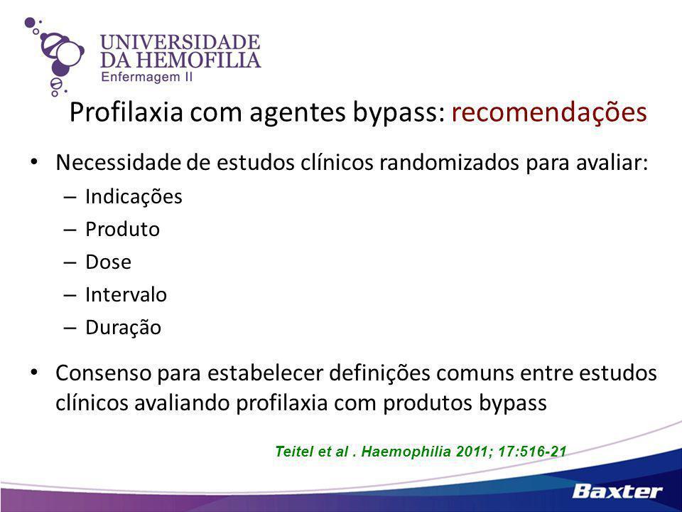 Profilaxia com agentes bypass: recomendações