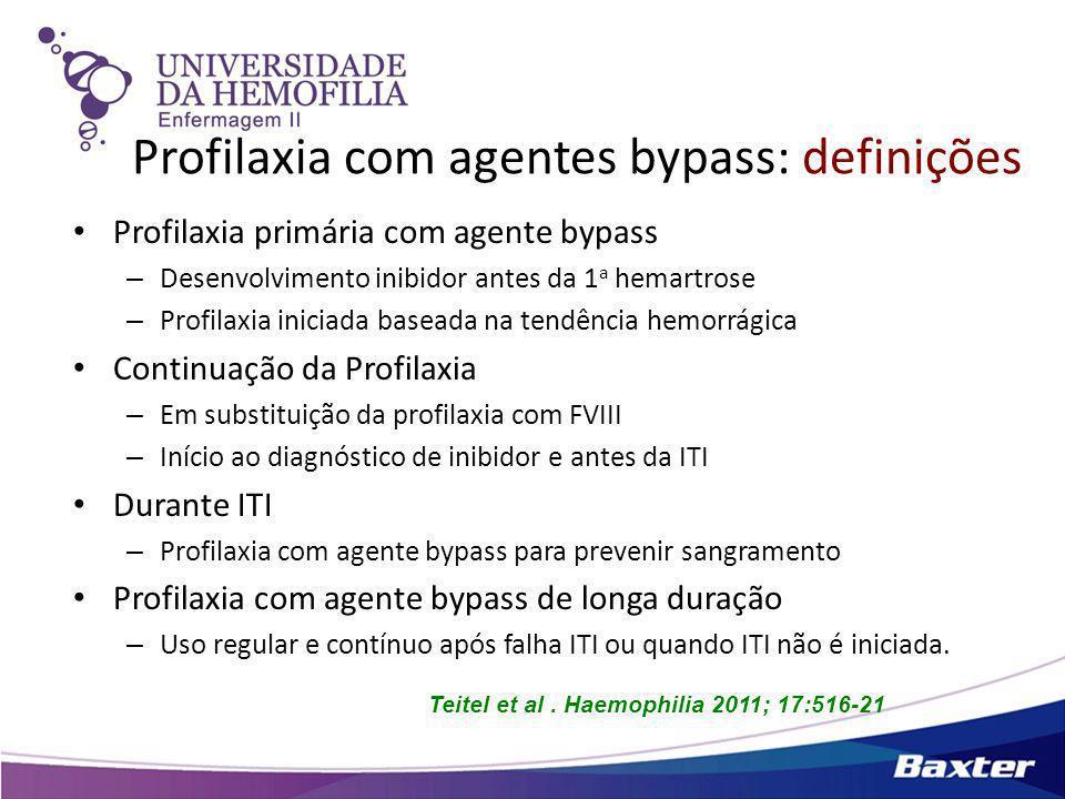 Profilaxia com agentes bypass: definições