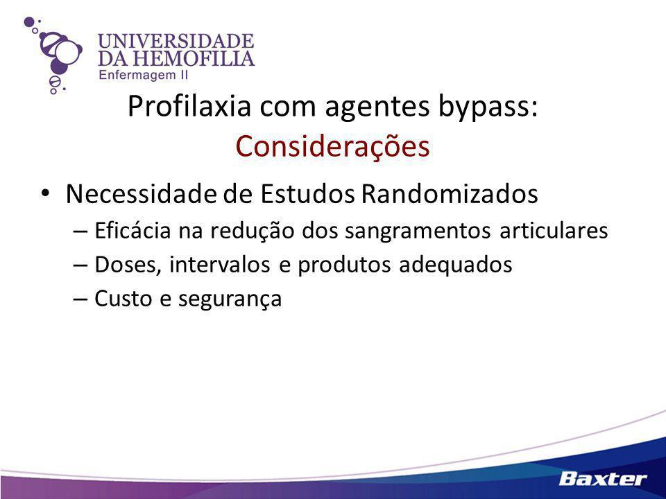 Profilaxia com agentes bypass: Considerações