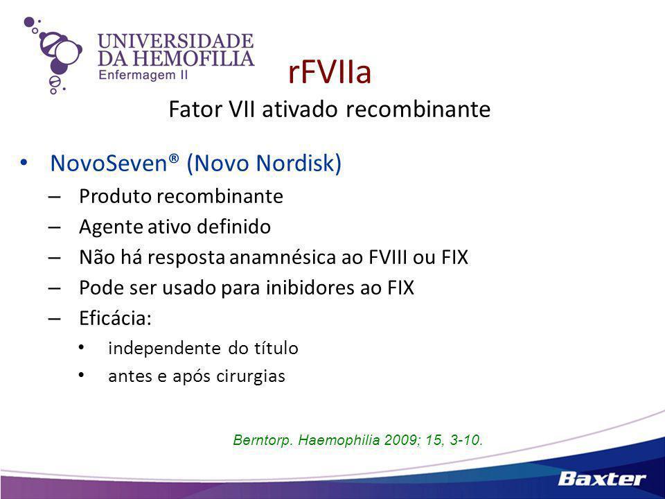 rFVIIa Fator VII ativado recombinante