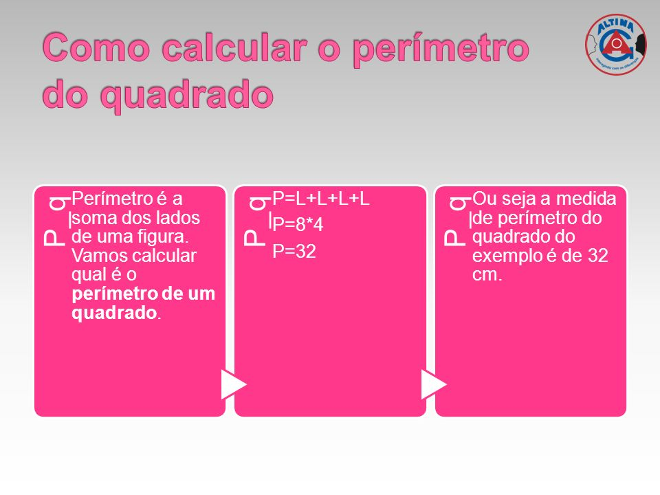 Como calcular o perímetro do quadrado