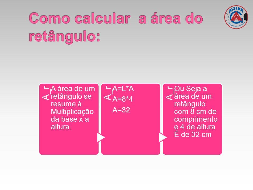 Como calcular a área do retângulo: